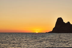 Es Vedra at sunset, Ibiza, Spain Stock Photo