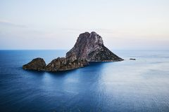 Es Vedra at sunset, Ibiza, Spain Royalty Free Stock Photography