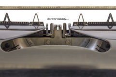 Es war einmal Typewriter Royalty Free Stock Photography