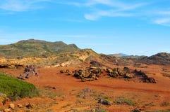 Es-Winkel des Leistungshebels Vermell in Menorca Balearic Island, Spanien Lizenzfreies Stockbild