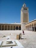 Es Zitouna Mosque. Tunis. Tunisien royaltyfri fotografi