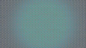 Esagoni d'argento astratti nel fondo blu fotografie stock libere da diritti