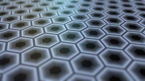 Esagoni grigi astratti fondo della rappresentazione 3D Fotografia Stock