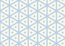 Esagono d'annata e modello del cerchio su colore pastello Fotografia Stock Libera da Diritti