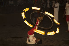 Esala Perahera :bhuddist节日在康提,斯里兰卡, 2015年 免版税库存照片
