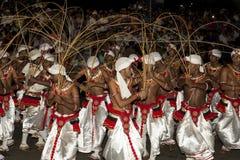 Esala Perahera: el festival del bhuddist en Kandy, Sri Lanka, 2015 Foto de archivo