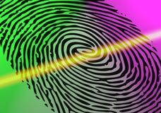 Esame dell'impronta digitale Fotografia Stock Libera da Diritti