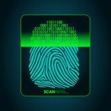 Esame dell'impronta digitale - sistema di sicurezza biometrico digitale, accesso Fotografia Stock