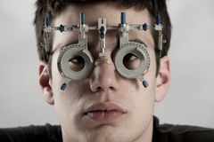 Esame dell'optometrista fotografie stock libere da diritti