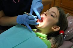 Esame dentale Immagini Stock