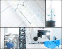 Esame di concetto del fondo medico Fotografie Stock