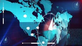 Esame di Digital della terra Illustrazione di Stock