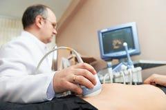 Esame medico ultrasonico immagine stock
