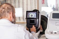 Esame optometrico immagine stock