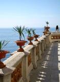 Esaminando fuori al mare Castello Miramare, Trieste, Italia Immagine Stock Libera da Diritti
