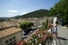 Esaminando i tetti di Sisterone Fotografie Stock Libere da Diritti
