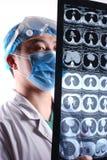 Esaminando la pellicola di CT Immagine Stock