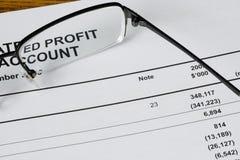 Esaminando profitto Immagini Stock