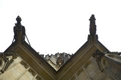 Cercando il castello di Praga Fotografia Stock Libera da Diritti