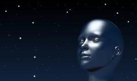 Esaminando su l'universo Fotografia Stock