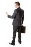 Esaminando telefono Fotografia Stock Libera da Diritti