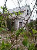 Esaminando tramite un recinto questa vecchia casa Immagine Stock Libera da Diritti