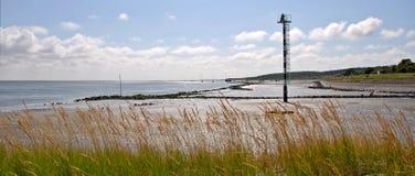 Esaminare il mare di Wadden da Vlieland Fotografie Stock Libere da Diritti