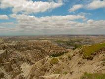 Esaminare la vista al parco nazionale dei calanchi in Sud Dakota fotografia stock libera da diritti