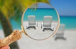 Esaminare una fuga caraibica Immagine Stock