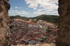 Esamini Castelo de Vide dal castello Fotografia Stock Libera da Diritti