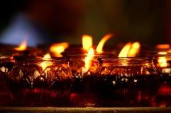 Esamini in controluce il fuoco immagine stock