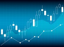 Esamini in controluce il grafico del grafico del bastone del commercio di investimento del mercato azionario, Sto royalty illustrazione gratis