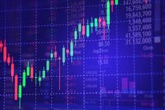 Esamini in controluce il grafico del grafico del bastone con l'indicatore che mostra il punto fiducioso o illustrazione di stock
