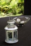 Esamini in controluce la lanterna in giardino Fotografia Stock Libera da Diritti