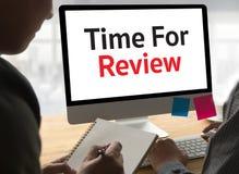 esamini il concetto di affari di tempo, tempo per l'esame, tè di affari Fotografie Stock Libere da Diritti