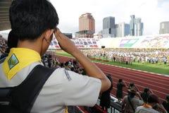 Esamini la cerimonia di giuramento del thaiscout Immagini Stock