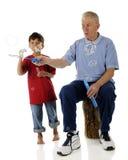 Esamini le grandi grandi bolle del Grampa! immagine stock