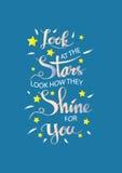 Esamini le stelle, guardi come splendono per voi royalty illustrazione gratis