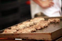 Esaminimi hamburger Immagini Stock