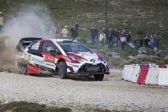 Esapekka Lappi, Toyota Yaris WRC Royaltyfri Bild
