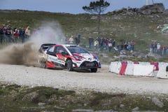 Esapekka Lappi, Toyota Yaris WRC Royaltyfri Foto