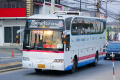 Esarn tour company VIP bus no.175-2 route Khonkaen and Chiangmai. Royalty Free Stock Photo