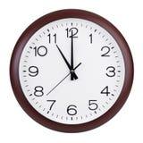Esattamente undici ore su un quadrante rotondo Fotografie Stock Libere da Diritti