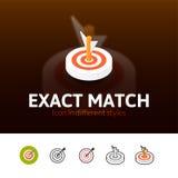 Esatto - icona della partita nello stile differente illustrazione vettoriale