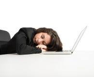 Esaurimento da lavoro eccessivo Immagine Stock