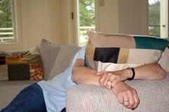 Esaurito e stanco Fotografia Stock Libera da Diritti