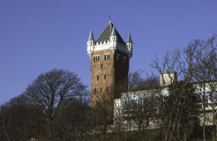 Esbjerg,丹麦。 老水塔。 图库摄影