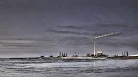 Esbjerg harbor Denmark, Metropol of energy Stock Photography