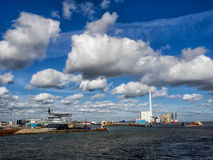 Esbjerg harbor Denmark, Metropol of energy Royalty Free Stock Photography
