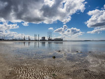 Esbjerg harbor Denmark, Metropol of energy Royalty Free Stock Images
